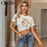 Missychilli Knitted White Lip Print O Neck T Shirt Women Fashion Office Lady Spring Tops Shirt-Home-MissyChilli ChicSo Store-White-S-EpicWorldStore.com