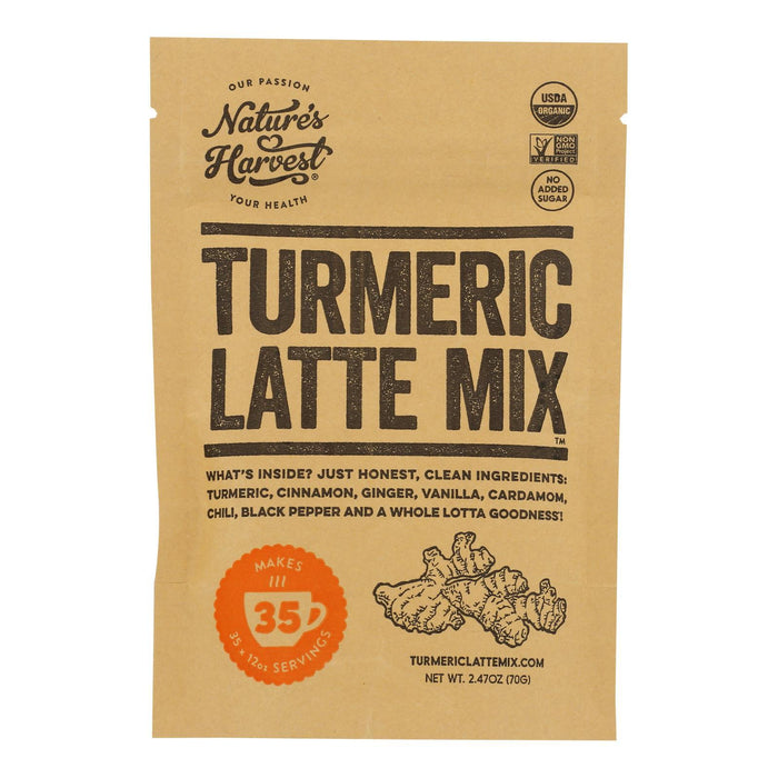 Nature S Harvest - Latte Mix Trmrc 35 Srvngs - Case Of 6 - 2.47 Oz-Eco-Friendly Home & Grocery-Nature`s Harvest-EpicWorldStore.com