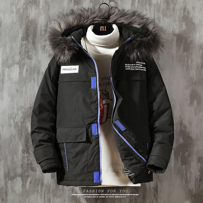 New Casual Classic Winter Jacket Mens Windbreak Warm Padded Hooded Overcoat Fashion-Home-Lance Donovan Jeans-PRO Store-ASIAN SIZE W M750 A-M FOR 160 CM 60KG-EpicWorldStore.com
