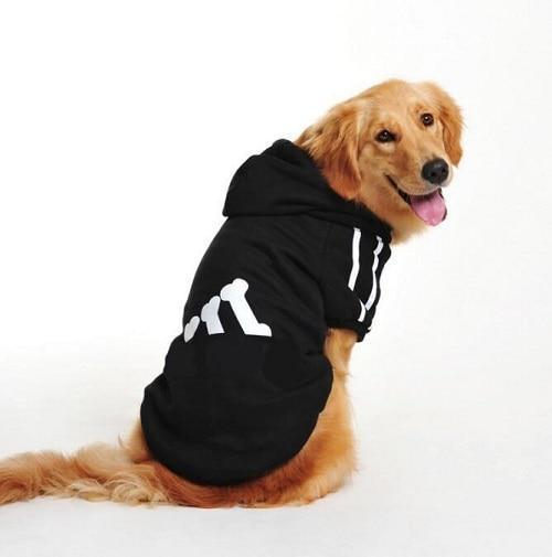 New Cotton Big Pet Dog Clothes Large Size Dog Coat Jacket Hooded Sweater T Shirt Winter Clothing For-Dog Sweaters-Seawave Textile-Black-7XL-EpicWorldStore.com