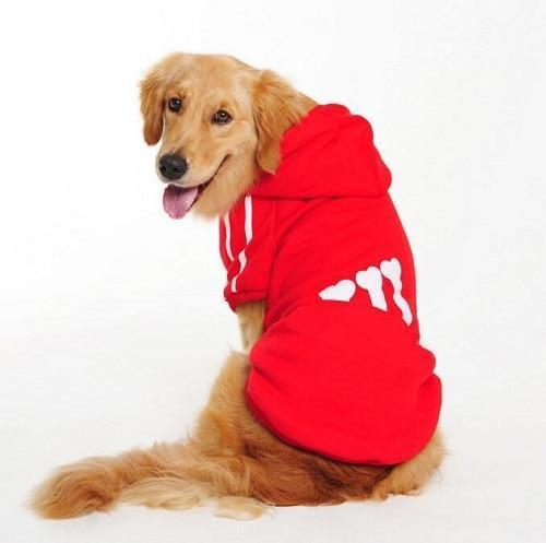 New Cotton Big Pet Dog Clothes Large Size Dog Coat Jacket Hooded Sweater T Shirt Winter Clothing For-Dog Sweaters-Seawave Textile-Red-7XL-EpicWorldStore.com