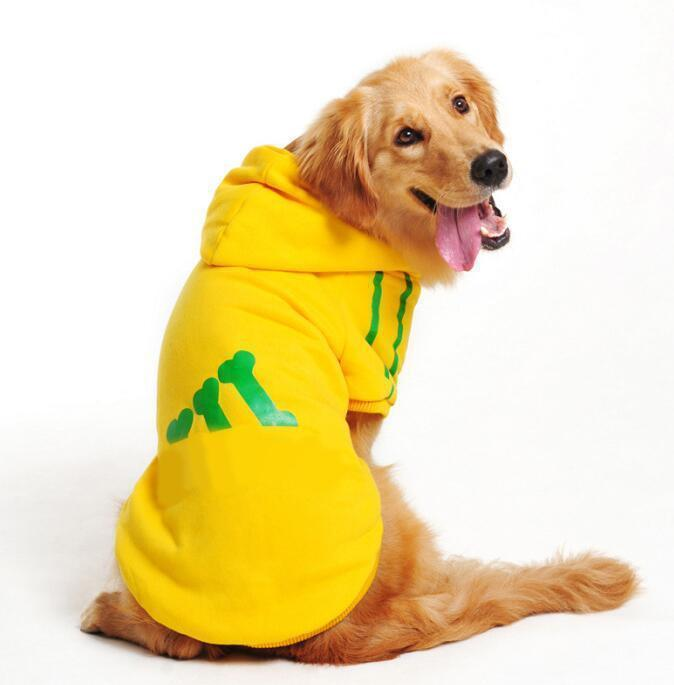 New Cotton Big Pet Dog Clothes Large Size Dog Coat Jacket Hooded Sweater T Shirt Winter Clothing For-Dog Sweaters-Seawave Textile-Yellow-7XL-EpicWorldStore.com