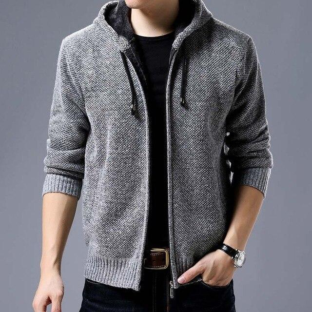 New Fashion Brand Clothing Jacket Men Casual Mens Solid Color Autumn Jacket Mens Coats Casual-Jackets-LANGBEEYAR Official Store-Gray-M-EpicWorldStore.com