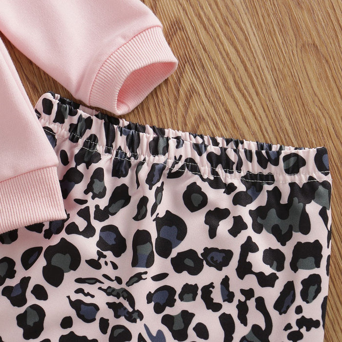 Newborn Infant Baby Girl Leopard Print Sweatshirt Hoodies Tops Pants Leggings Headband Outfit-Clothing Sets-Mommy and baby Store-Pink-Newborn-EpicWorldStore.com