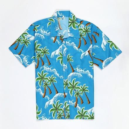 Pink Hawaiian Beach Short Sleeve Shirt Men Summer Fashion Palm Tree Print Tropical Aloha Shirts-Casual Shirts-Hipster 3D Wardrobe Store-11-Asian Size S-EpicWorldStore.com