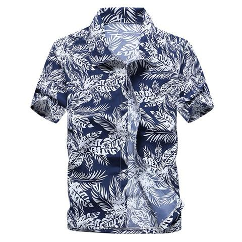 Pink Hawaiian Beach Short Sleeve Shirt Men Summer Fashion Palm Tree Print Tropical Aloha Shirts-Casual Shirts-Hipster 3D Wardrobe Store-9-Asian Size S-EpicWorldStore.com