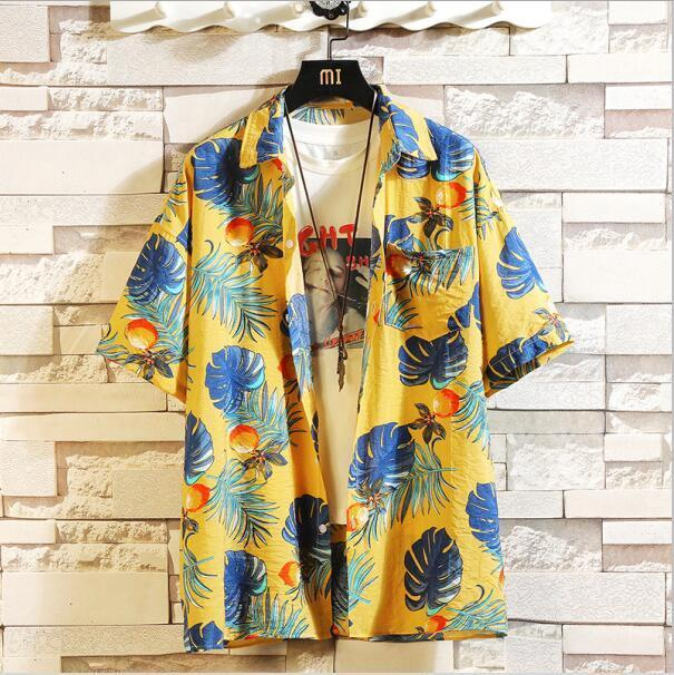 Print Brand Summer Hot Sell Mens Beach Shirt Fashion Short Sleeve Floral Loose Casual Shirts Plus-Casual Shirts-Lance Donovan Jeans-PRO Store-CHECK SIZE C531-M FOR 160 CM 60KG-EpicWorldStore.com