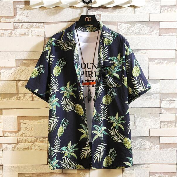 Print Brand Summer Hot Sell Mens Beach Shirt Fashion Short Sleeve Floral Loose Casual Shirts Plus-Casual Shirts-Lance Donovan Jeans-PRO Store-CHECK SIZE C532-M FOR 160 CM 60KG-EpicWorldStore.com