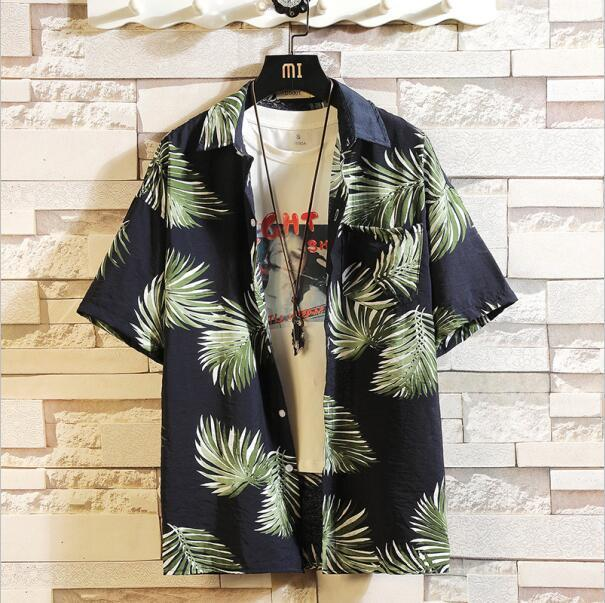 Print Brand Summer Hot Sell Mens Beach Shirt Fashion Short Sleeve Floral Loose Casual Shirts Plus-Casual Shirts-Lance Donovan Jeans-PRO Store-CHECK SIZE C535-M FOR 160 CM 60KG-EpicWorldStore.com