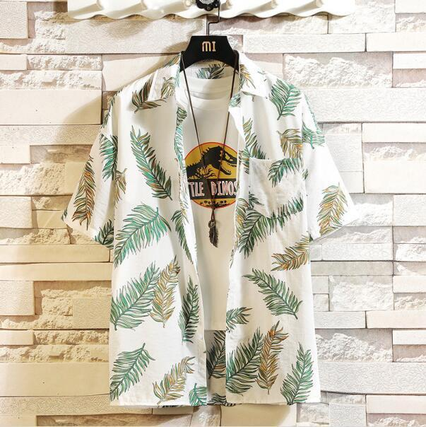 Print Brand Summer Hot Sell Mens Beach Shirt Fashion Short Sleeve Floral Loose Casual Shirts Plus-Casual Shirts-Lance Donovan Jeans-PRO Store-CHECK SIZE C538-M FOR 160 CM 60KG-EpicWorldStore.com