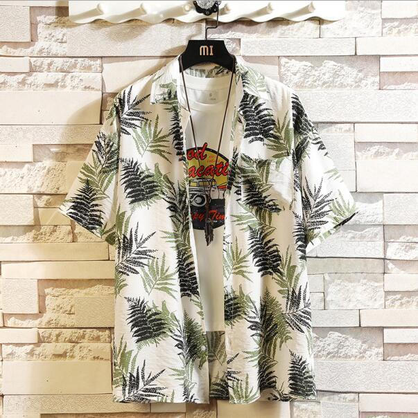 Print Brand Summer Hot Sell Mens Beach Shirt Fashion Short Sleeve Floral Loose Casual Shirts Plus-Casual Shirts-Lance Donovan Jeans-PRO Store-CHECK SIZE C539-M FOR 160 CM 60KG-EpicWorldStore.com