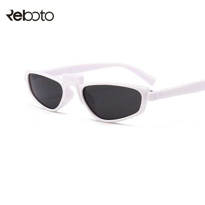 retro Small Frame Sunglasses Women Brand designer Vintage thin black Sun glasses white Rihanna glasses Square eyewar UV400