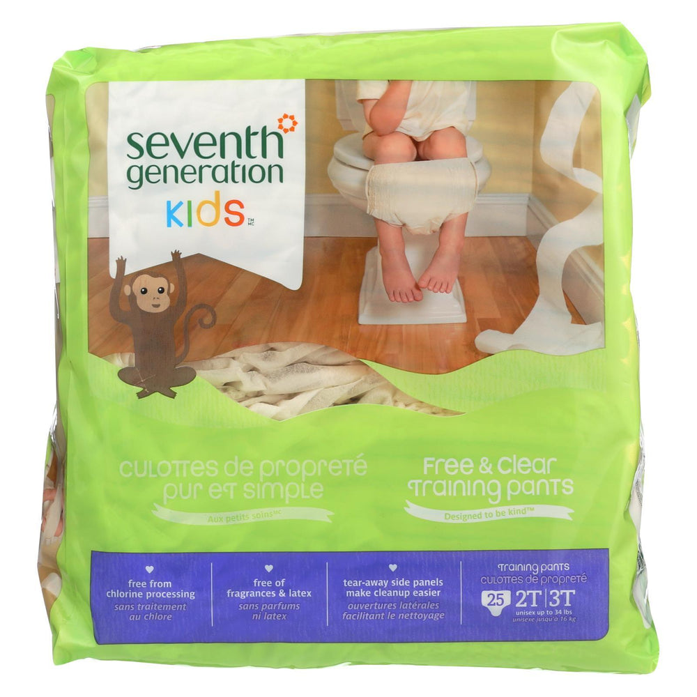 Seventh Generation Free And Clear Training Pants - 2T - 3T - Case Of 4 - 25 Count-Eco-Friendly Home & Grocery-Seventh Generation-EpicWorldStore.com