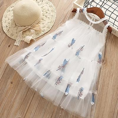 Sodawn Spring Summer Childrens Clothing Baby Girl Princess Dress Lace Short Sleeve Flower-Dresses-Sodawn Store-BD186-White-2T-EpicWorldStore.com