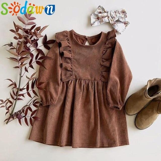 Sodawn Spring Summer Childrens Clothing Baby Girl Princess Dress Lace Short Sleeve Flower-Dresses-Sodawn Store-BD344-Brown-2T-EpicWorldStore.com