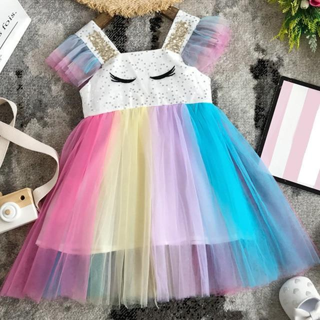Sodawn Spring Summer Childrens Clothing Baby Girl Princess Dress Lace Short Sleeve Flower-Dresses-Sodawn Store-BN050-Colorful-2T-EpicWorldStore.com