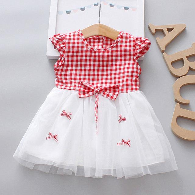 Sodawn Spring Summer Childrens Clothing Baby Girl Princess Dress Lace Short Sleeve Flower-Dresses-Sodawn Store-BZ256-Red-2T-EpicWorldStore.com