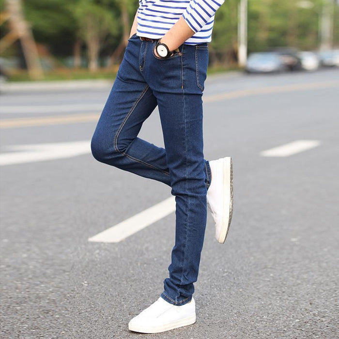 Spring And Autumn Stretch Pants Jeans New Boys Trend High Quality Slim Fit Skinny Youth-Jeans-FRAME- Store-Blue-27-EpicWorldStore.com