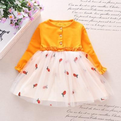 Spring Autumn Toddler Girl Dress Cotton Long Sleeve Toddler Dress Floral Bow Kids Dresses For-Dresses-Shop5120116 Store-Green-2T-EpicWorldStore.com