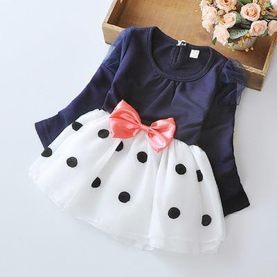 Spring Autumn Toddler Girl Dress Cotton Long Sleeve Toddler Dress Floral Bow Kids Dresses For-Dresses-Shop5120116 Store-Sky blue-2T-EpicWorldStore.com