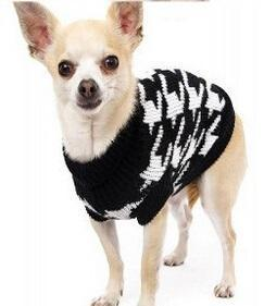 Sz Xs Xxl Free Ship Autumn Winter Various Lovely Puppy Pet Cat Dog Sweater Knitted Coat Apparel-Dog Sweaters-Petalk Store-Black houndstooth-XS Chest28cmBack17-EpicWorldStore.com