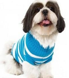Sz Xs Xxl Free Ship Autumn Winter Various Lovely Puppy Pet Cat Dog Sweater Knitted Coat Apparel-Dog Sweaters-Petalk Store-Blue Stripe-XS Chest28cmBack17-EpicWorldStore.com