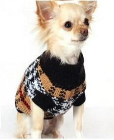 Sz Xs Xxl Free Ship Autumn Winter Various Lovely Puppy Pet Cat Dog Sweater Knitted Coat Apparel-Dog Sweaters-Petalk Store-Ginger yellow Plaid-XS Chest28cmBack17-EpicWorldStore.com