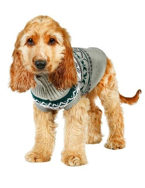 Sz Xs Xxl Free Ship Autumn Winter Various Lovely Puppy Pet Cat Dog Sweater Knitted Coat Apparel-Dog Sweaters-Petalk Store-Gray Leaf-XS Chest28cmBack17-EpicWorldStore.com