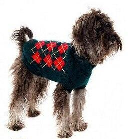 Sz Xs Xxl Free Ship Autumn Winter Various Lovely Puppy Pet Cat Dog Sweater Knitted Coat Apparel-Dog Sweaters-Petalk Store-Green Plaid-XS Chest28cmBack17-EpicWorldStore.com