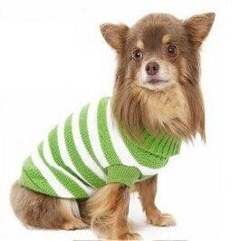 Sz Xs Xxl Free Ship Autumn Winter Various Lovely Puppy Pet Cat Dog Sweater Knitted Coat Apparel-Dog Sweaters-Petalk Store-Green Stripe-XS Chest28cmBack17-EpicWorldStore.com