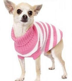 Sz Xs Xxl Free Ship Autumn Winter Various Lovely Puppy Pet Cat Dog Sweater Knitted Coat Apparel-Dog Sweaters-Petalk Store-Pink Stripe-XS Chest28cmBack17-EpicWorldStore.com