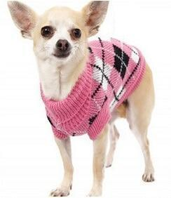 Sz Xs Xxl Free Ship Autumn Winter Various Lovely Puppy Pet Cat Dog Sweater Knitted Coat Apparel-Dog Sweaters-Petalk Store-Plum Plaid-XS Chest28cmBack17-EpicWorldStore.com