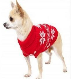 Sz Xs Xxl Free Ship Autumn Winter Various Lovely Puppy Pet Cat Dog Sweater Knitted Coat Apparel-Dog Sweaters-Petalk Store-Red Snowflake-XS Chest28cmBack17-EpicWorldStore.com