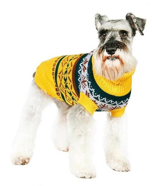 Sz Xs Xxl Free Ship Autumn Winter Various Lovely Puppy Pet Cat Dog Sweater Knitted Coat Apparel-Dog Sweaters-Petalk Store-Yellow Leaf-XS Chest28cmBack17-EpicWorldStore.com
