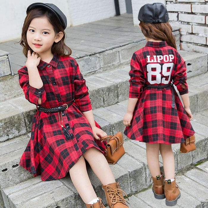 Teenage Girls Hoodie Dress Long Sleeve Girls Dress Spring New Kids Girls Casual Dresses Girls T-Dresses-HAKEEM1 Store-see chart-4T-EpicWorldStore.com