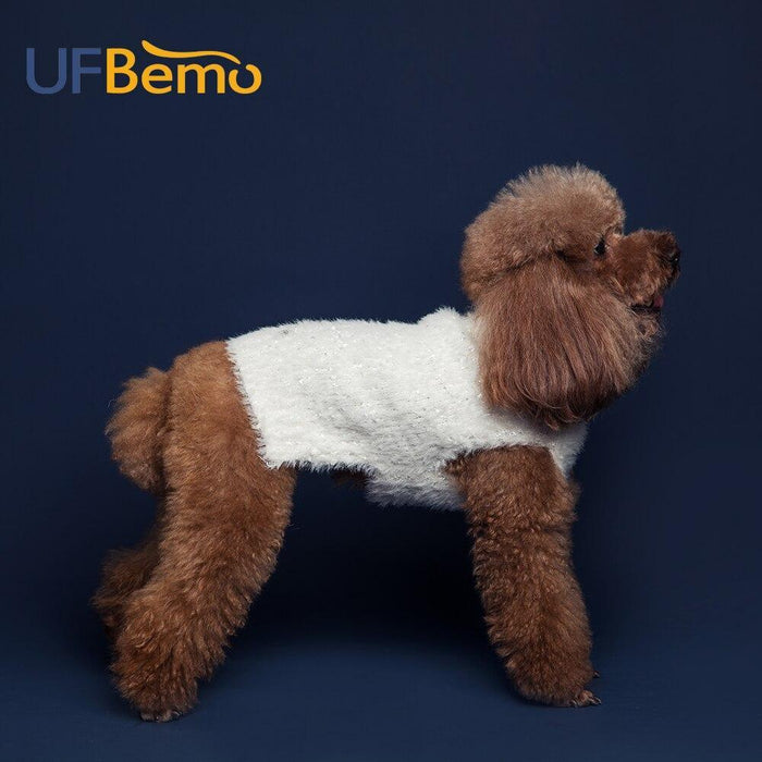 Ufbemo Dog Sweater Cat Dachshund Teckel Turtleneck Knitted Stretched Pullover Clothes White Furry-Home-UfBemo Store-white-XS-EpicWorldStore.com