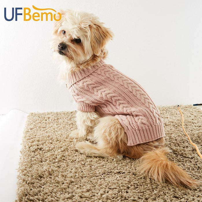 Ufbemo Knitted Cable Dog Sweater Dachshund Cat Pull Chien Teckel Clothes Christmas Winter For-Home-UfBemo Store-Grey-XS-EpicWorldStore.com