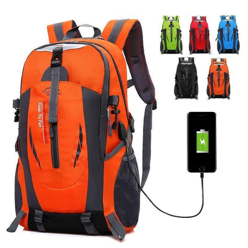Usb Rechargeable Bag New Backpack Men Large Outdoor Mountaineering Bag Female Sports Travel-Climbing Bags-Zhang Liang's Store-Green-MostlyShades.com