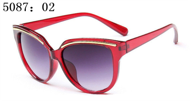 New Sunglasses Women Fashion Cat Eye Frame Mirror Sun Glasses Flat men Sunglasses UV400 oculos de sol feminino