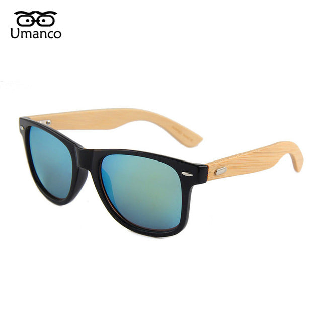 Umanco Bamboo Foot Sunglasses Men Women Classic Personality Wooden Sun Glasses Female Male Driving Eyewear Shade Mirror Hot Sale