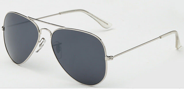 Red Bean Pilot Aviation Sunglasses MenShades Retro Classic Silver Sun Glasses Female Male Luxury Brand Designer Lunette