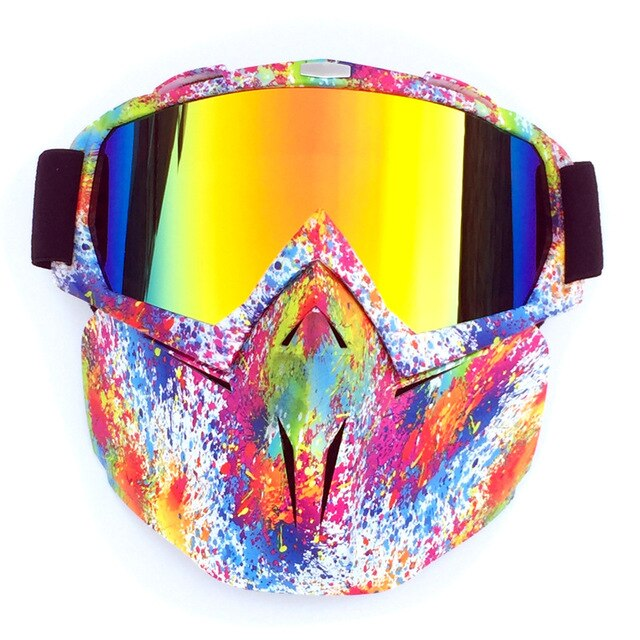 Men Women Riding Ski Snowboard Snowmobile eyewear Mask Snow Winter Skiing Anti UV Waterproof Glasses Motocross Sunglasses Q