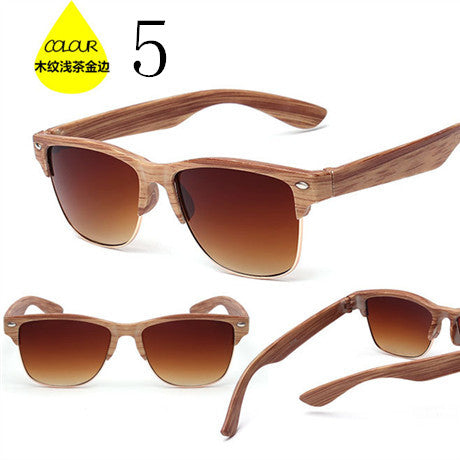 20Fashion Cat Eyes Sunglasses Women Summer Style Vintage Sun Glasses High Quality Luxury Brand Imitation Wood Grain Sunglasses