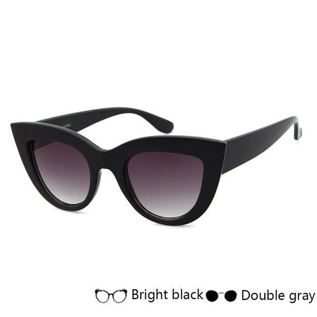 SIMPLESHOW New Women Cat Eye Sunglasses Black Full Frame Sun Glasses Fashion Ladies Glasses For Female Oculos UV400