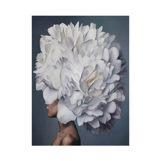 Modern Figure Lady Head Flower Picture Home Decor Nordic Canvas Painting Wall Art Posters and Prints Beauty Decor for Bedroom|Painting & Calligraphy