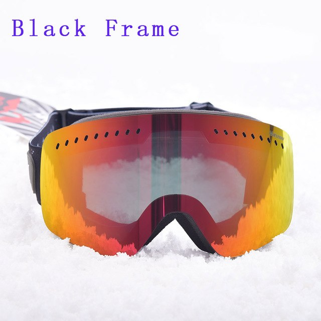 Children Skiing for Kid Boys Girls Glass Anti Fog Lens Winter Snow Glasses Snowboard Goggle Ski Kids Ski Goggles