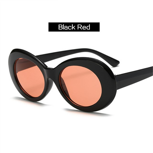 UVLAIK Kurt Cobain Glasses NIRVANA Clout Goggles Sunglasses Women Brand Designer Men Vintage Oval Goggles Sun Glasses Eyewear