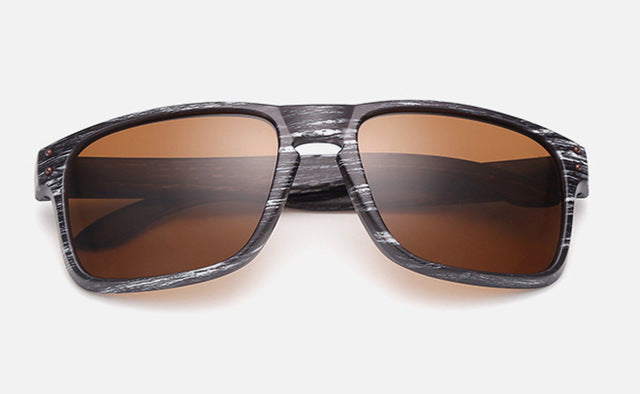 Mens Wood Grain Sunglasses Men Vintage Eyewear Rivets Coating Glasses Black Brown Frames Male Female Square Sun Glasses