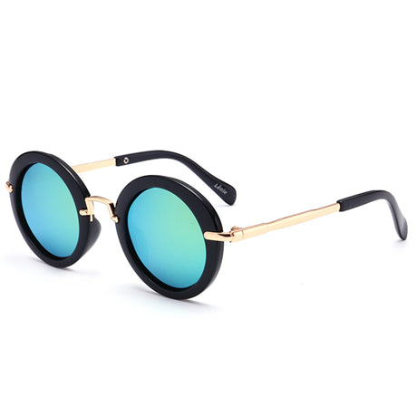 Polarized Vintage Round Sunglasses Kids Fashion Metal Gradient Retro Children Sun Glasses For Boy Girls UV400 Infant Eyewear