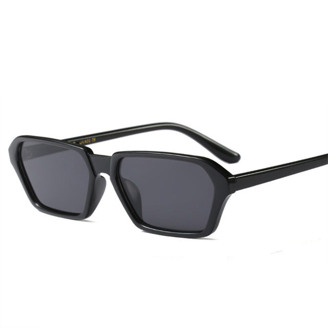 YOOSKE Vintage Square Sunglasses Women Brand Designer Small Frame Rectangle Sun Glasses 90s Retro Unique Eyewear UV400
